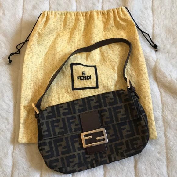 28ee2aa79893 Fendi Handbags - Authentic Fendi Monogram Zucca Purse